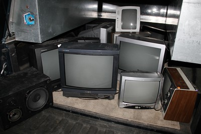 Old Televisions, Going to Recycle Program, Tamaqua (9-26-2014)