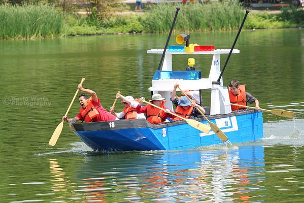 Glen Ellyn's 2012 Lake Ellyn Cardboard Boat Regatta