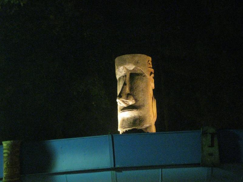 The Tiki Maze tiki statue.
