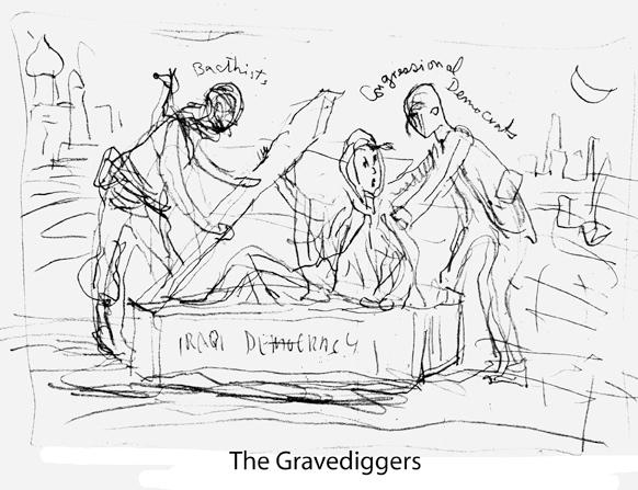 Sketch for a political cartoon
