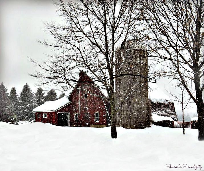 Snowy Storm Barn