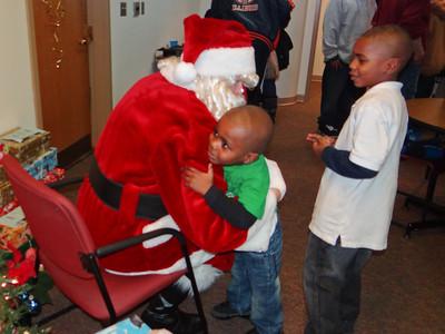 Santa visits Brandon Hall December 10, 2011