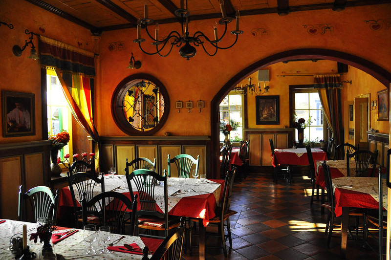 the welcoming breakfast room at Hotel Vitranc