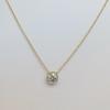 1.07ct Old European Cut Diamond AGS I SI1 Yellow Gold Bezel 15