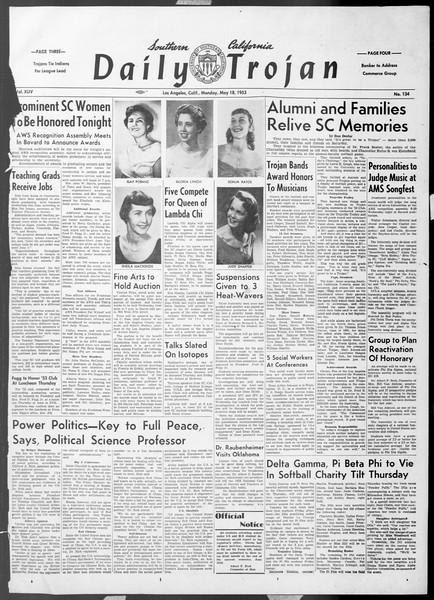 Daily Trojan, Vol. 44, No. 134, May 18, 1953