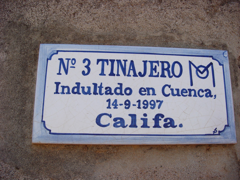 Tinajero was the name of the toro 'Indultado', who was saved and not killed because of his particular strength. SO after the fight he was sent back to this farm to become a stallion.  Interesting...