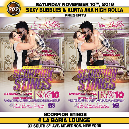11-10-2018-MOUNT VERNON-Sexy Bubbles And Kunta High Rolla Annual Scorpion Sting