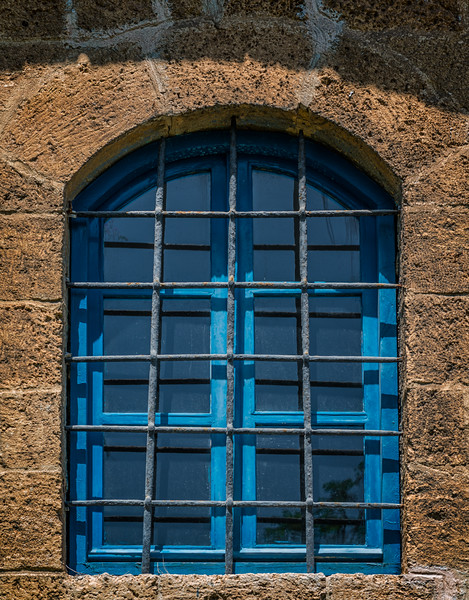 Barred window in Old Jaffa
