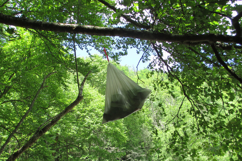 Yeah, so if you hang a bag to keep it from bears...make sure you yourself can get it back down...