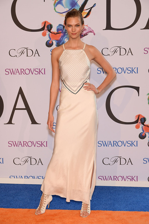 . Model Karlie Kloss attends the 2014 CFDA fashion awards at Alice Tully Hall, Lincoln Center on June 2, 2014 in New York City.  (Photo by Dimitrios Kambouris/Getty Images)