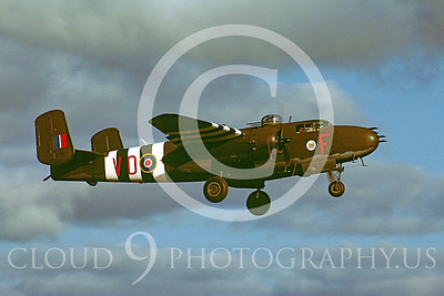 Flying British RAF North American B-25 Mitchell Airplane Pictures