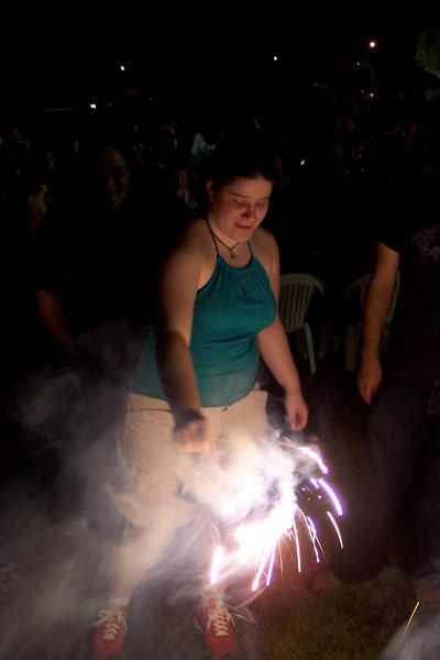Anna with a sparkler