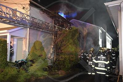 Westbury F.D. Working Fire  Maple Ave. 4/6/20