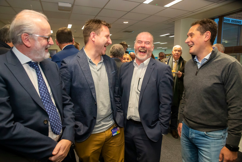 15/11/2019. FREE TO USE IMAGE. Pictured at the The official opening of the ArcLabs Research & Innovation Centre WIT extension, at Carriganore, Co Waterford. Pictured are Brian Foley WIT, Liam Dunne Spearline, Ciarian Cullen former manager at Arclabs and Miguel Ponce de Leon TSSG Picture: Patrick Browne