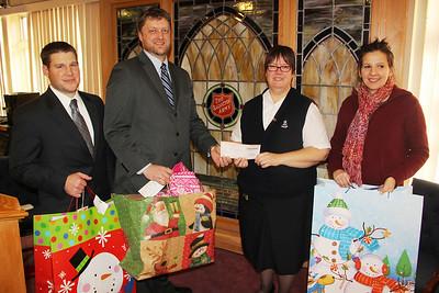 Tamaqua Middle, High Schools Donate to Tamaqua Salvation Army, Tamaqua (12-19-2013)
