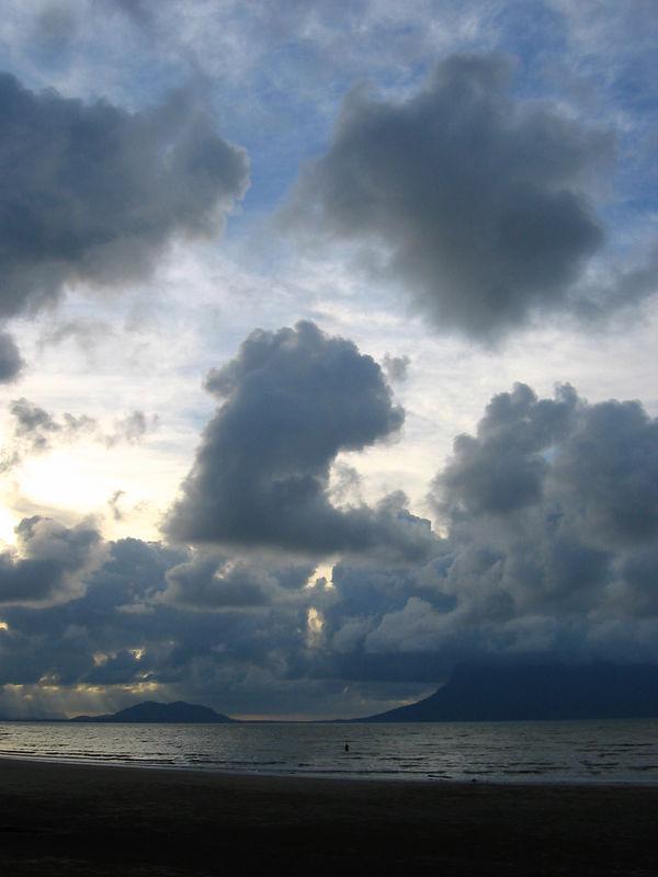 beach at bako national park