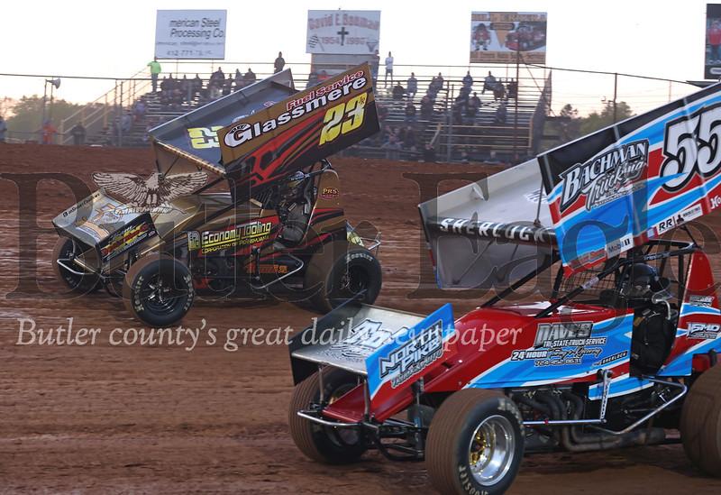 Heat rounds at Lernerville Friday, sprint car. Seb Foltz/Butler Eagle 05/14/21