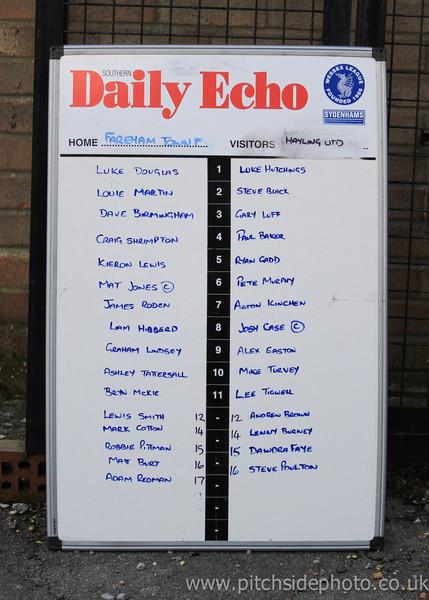 Fareham Town 0 Hayling United 1 - Sydenhams League Cup - 17/8/12