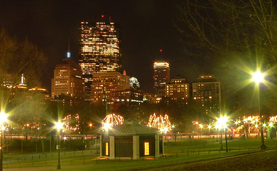 Boston on a warm December day & evening