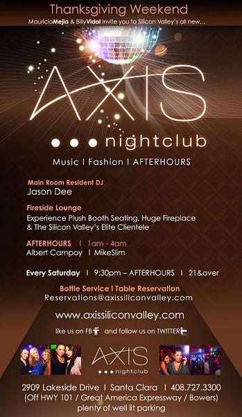 Axis Saturdays @ AXIS Nightclub 11.24.12