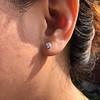 .52ctw Carre Cut Diamond Stud Earrings 11