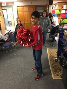 Wreath-making in Grade 6