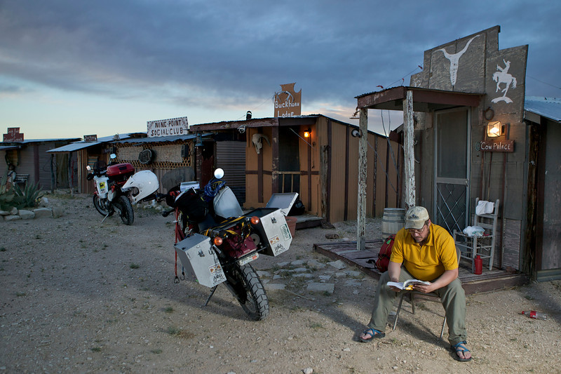 The Cowhead Ranch offers rooms in these funky, handbuilt shacks for $10 per night.