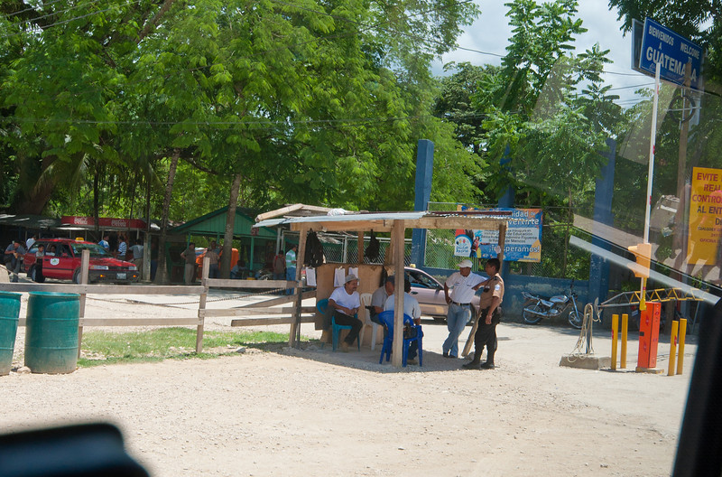 The border crossing between Guatemala and Belize.