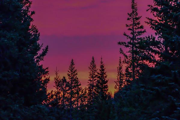 10-22-15 Elbow Falls - Early Morning Sun