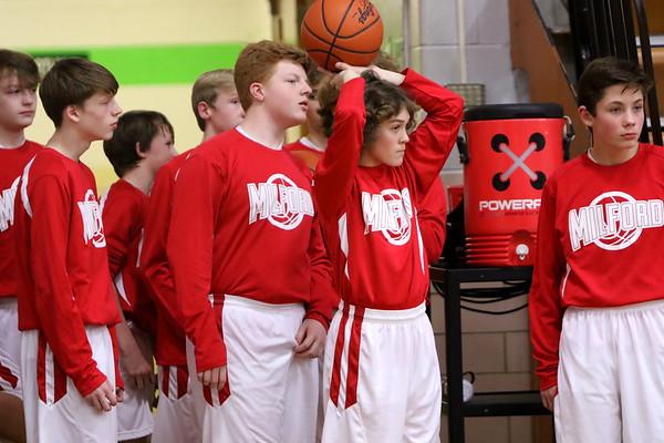 8th grade B boys Basketball vs HCSMA