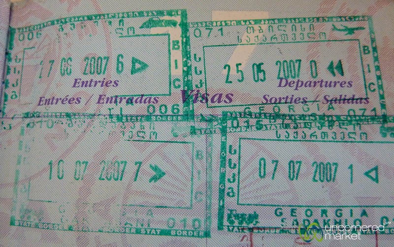 Georgian Entry Stamps