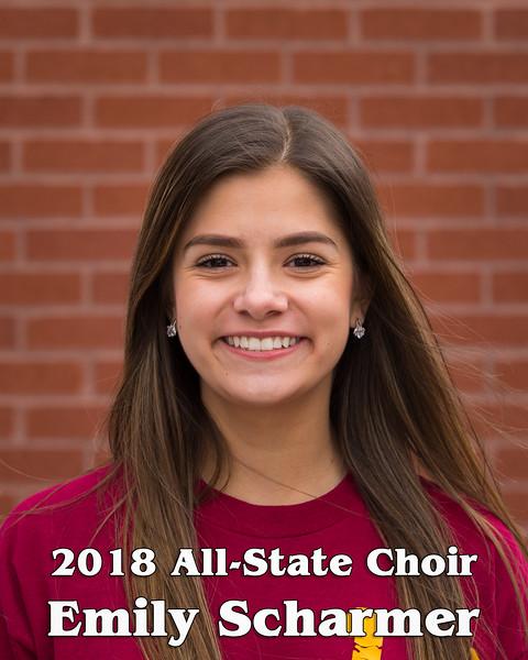 2018 All-State Choir Head Shots