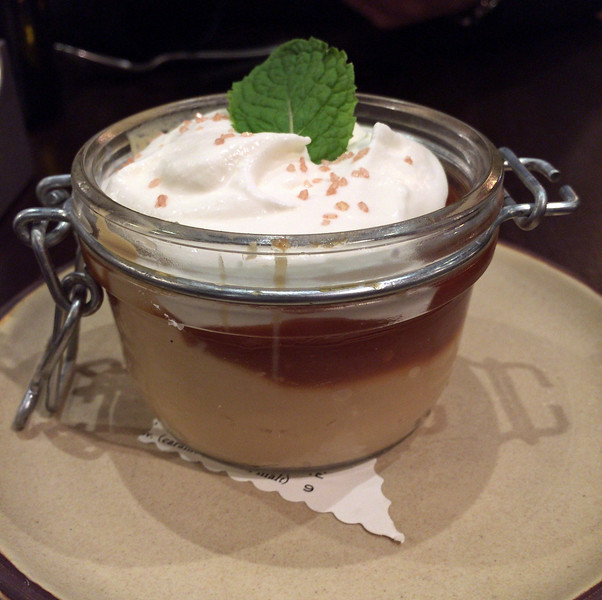 Caramel Budino at The Copper Grouse at the Taconic Hotel in Manchester, VT