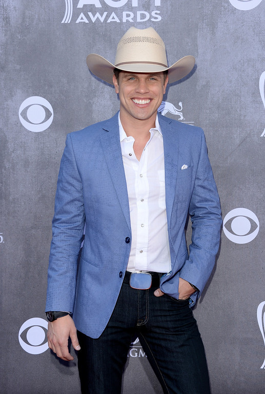 . Singer Dustin Lynch attends the 49th Annual Academy Of Country Music Awards at the MGM Grand Garden Arena on April 6, 2014 in Las Vegas, Nevada.  (Photo by Jason Merritt/Getty Images)