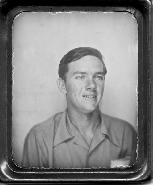 Ruben Siemens after being inducted, taken 7/24/42