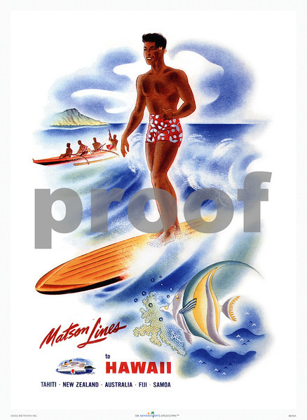 245: Frank Macintosh: Ocean Navigation Company Poster. Ca 1946. (PROOF watermark will not appear on your print)