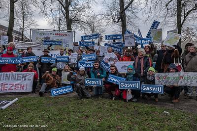 Demonstraties-Kleine gasvelden 2018
