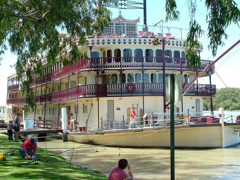 large paddlesteamer on a river