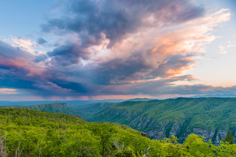 Linville Gorge Stormy Sunset