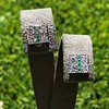 Art Deco Diamond and Emerald Disc Earrings 5