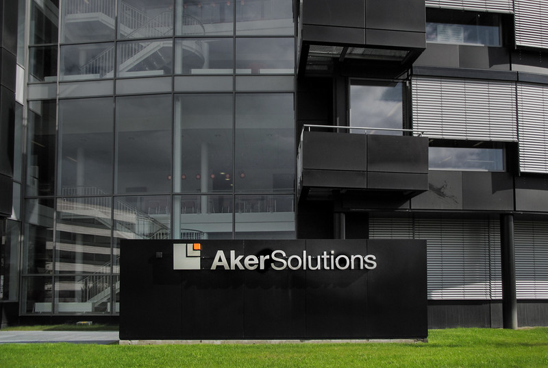 Aker Solutions skilting