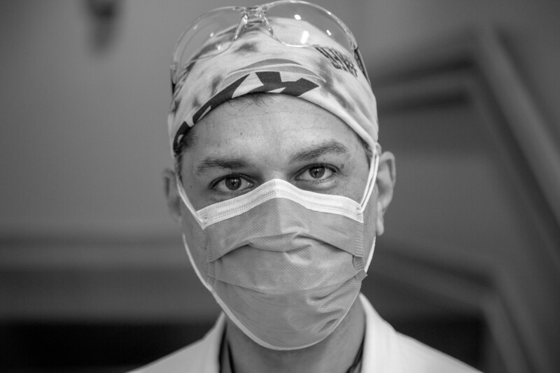 Benjamin DeLaRosa, MD, during COVID-19  photos at Holy Name Medical Center during the first weeks of the COVID-19 Pandemic. General COVID-19  photos at Holy Name Medical Center during the first weeks of the COVID-19 Pandemic.   04/21/2020  Photos by Jeff Rhode/Holy Name Medical Center.  Mandatory photo credit, and please use only with permission from Jeff Rhode and Holy Name Medical Center.  If you need ID's or detailed captions please call 201-543-8067 or email jrhode@holyname.org
