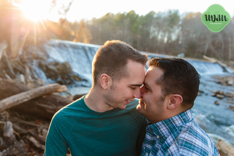 Snuggly, Same Sex Engagement Photography at West Point on the Eno - MKM Photography (12).jpg