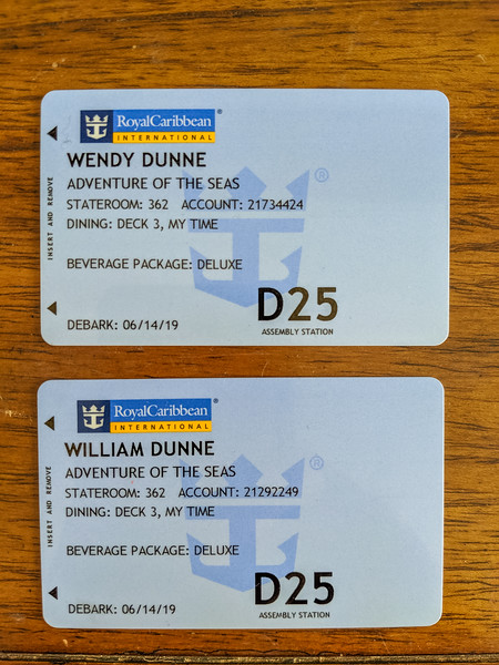 Don't lose these cards while on board!