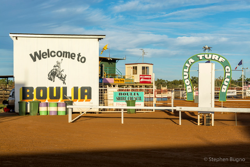the racetrack in Boulia, QLD