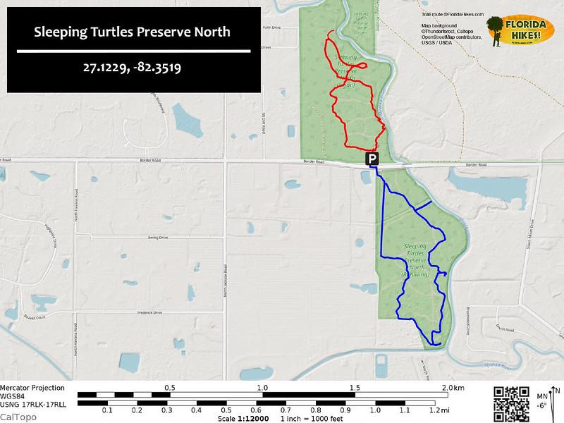 Sleeping Turtles Preserve North Trail Map