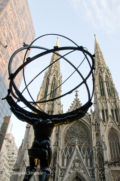 Atlas in front of St. Patrick's