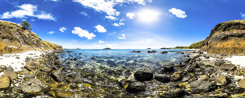View to Vawa Island from Paradise Beach - Yasawa - Fiji Islands
