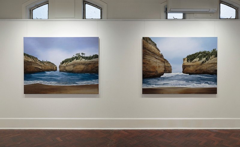 Loch Ard Gorge 2 & 1 oil on linen 137 x183cm $16,500. ea