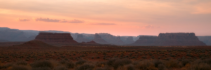 Valley of the Gods at Dusk